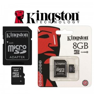 Karta Pamięci Micro SD SDHC 8GB Class10 Kingston + adapter